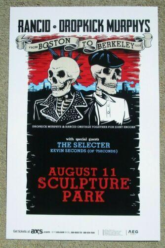 💀 RANCID / DROPKICK MURPHYS From Boston to Berkeley Tour 11x17 Promo Poster 🤟