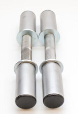 15 Inch Olympic Dumbbell Handles Knurled Grip Heavy Duty