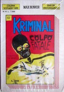 KRIMINALSerie-del-25-Coll-Scotland-Yard-034-COLPO-034-N-10-ANNO-III-1-1990