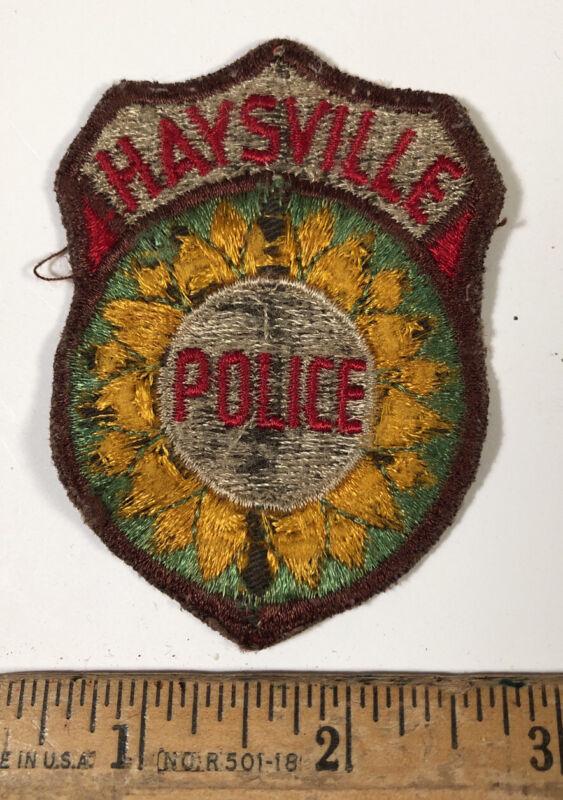 Vintage Haysville Kansas Police Officer Department Patch