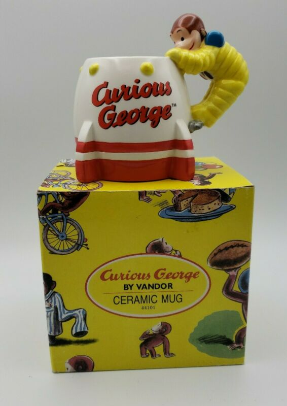 Curious George by Vandor*Ceramic Mug*In Box*Shoot for the Stars*Astronaut*Monkey