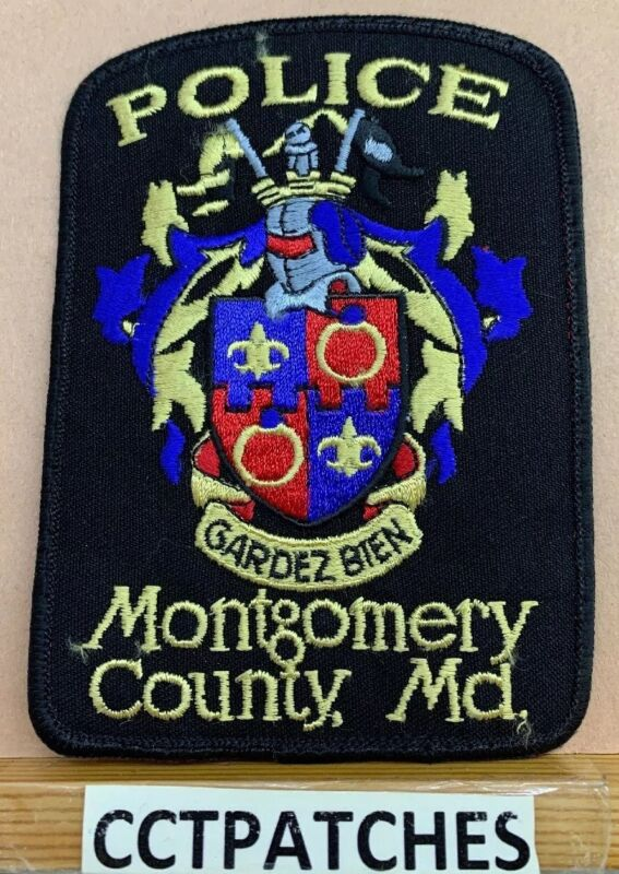 MONTGOMERY COUNTY, MARYLAND POLICE SHOULDER PATCH MD