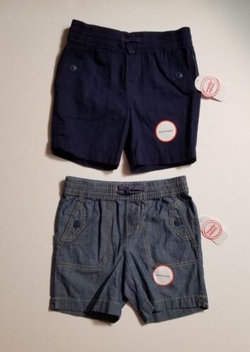 Wonder Nation Girls *2 PACK* Pull On Bermuda Woven Shorts Size XS S M L *NWT*
