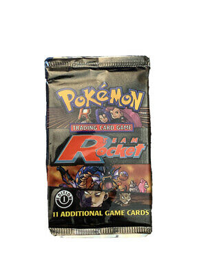 Pokemon First Edition Team Rocket Booster Pack Unsealed