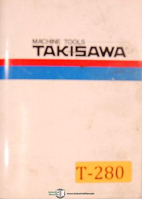 Takisawa Mac-v2 And V3 Lathe Parts Manual Year 1956