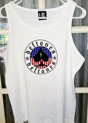 Deftones Tank Top WB white Size Mens or Women's Large - XL