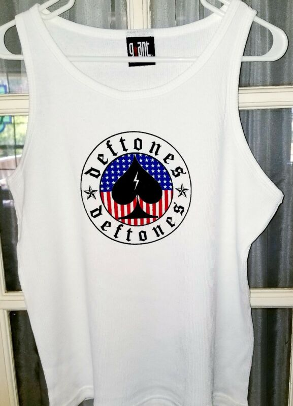 Deftones Tank Top WB white Size Mens or Women