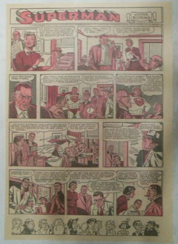 Superman Sunday Page #683 Wayne Boring from 11/30/1952 Size ~11 x 15 inches RB