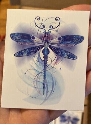 """3"""" Dragonfly Sticker 💙 Blue Swirl Eternity Tribal Heaven Grief Calm Love Heaven"""