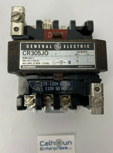 General Electric Size 0 Contactor, CR305J0, CR305JO,120V Coil, GE  *WARRANTY*