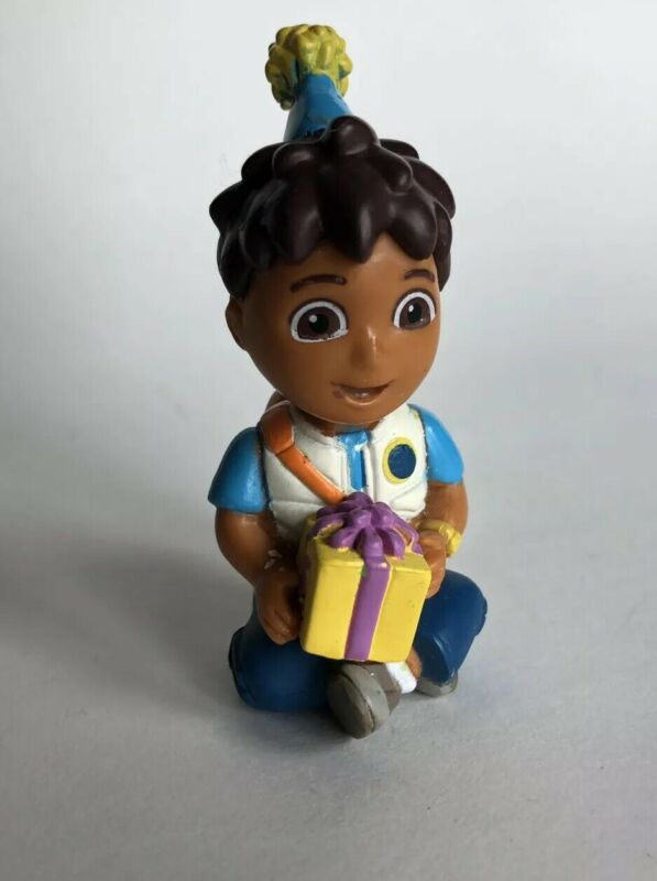 2011 Go Diego Go Nickelodeon Decopac Cake Topper Toy Wearing Hat & Birthday Gift