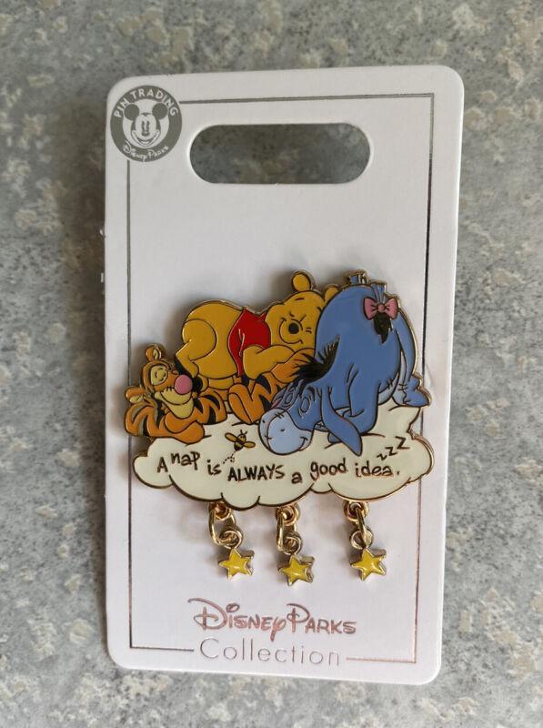 SHDR Shanghai Disney Land Winnie The Pooh Eeyore Tigger Pin Nap Cloud Stars