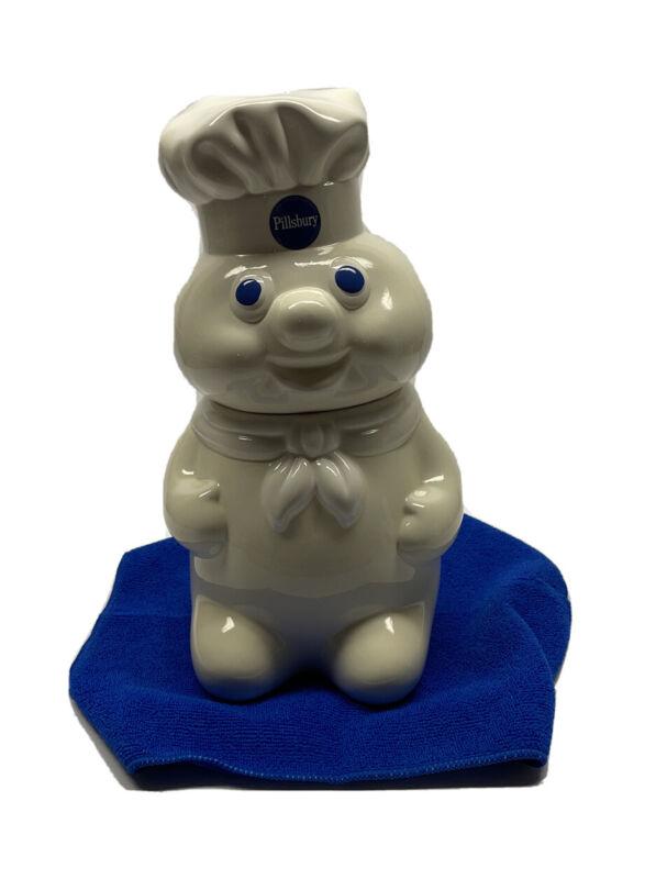 Vintage 1988 Pillsbury Doughboy White Ceramic Cookie Jar Benjamin & Medwin