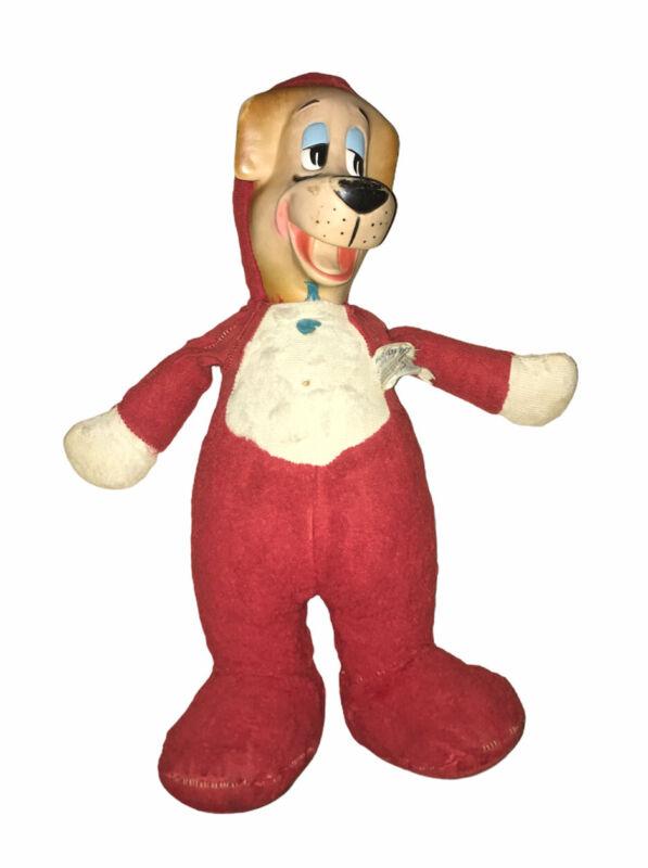 "Vintage 1959 Huckleberry Hound 17"" Plush Doll Knickerbocker Toy Company"