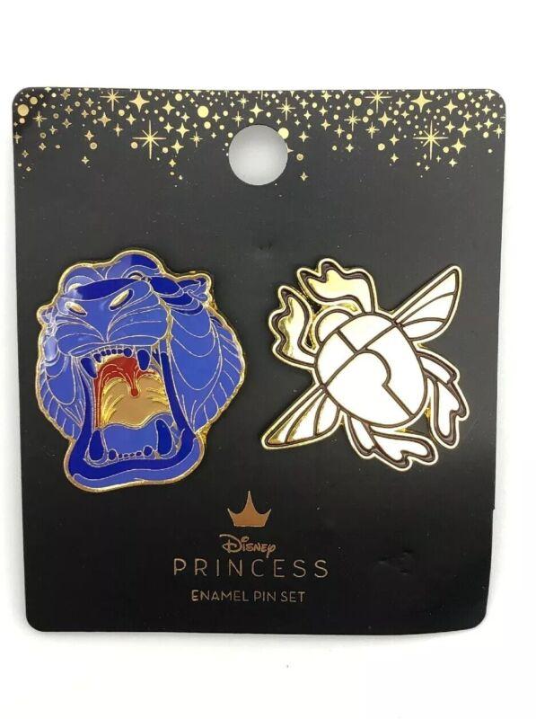 Loungefly Disney Princess Villains Aladdin Pin Set Cave of Wonders Lion & Scarab