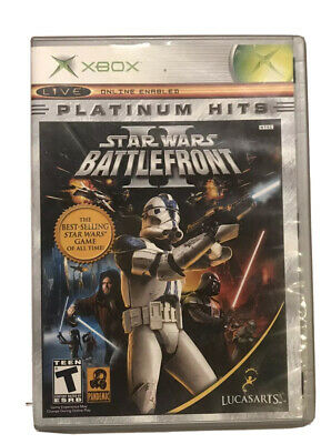 Star Wars: Battlefront II 2 (Xbox, 2005, Original) CIB Complete Platinum Hits