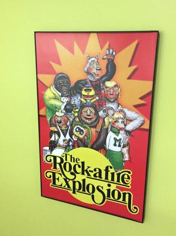 Rock Afire Explosion Band Group Poster Showbiz pizza Rockafire 11x17 Fan Art