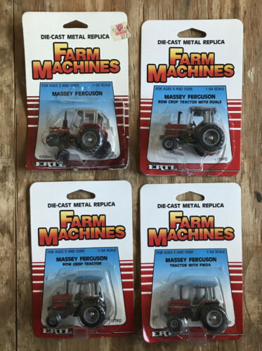 Ertl Farm Machines Massey-Ferguson Tractor - Lot Of 5 - 1/64 Scale NIB