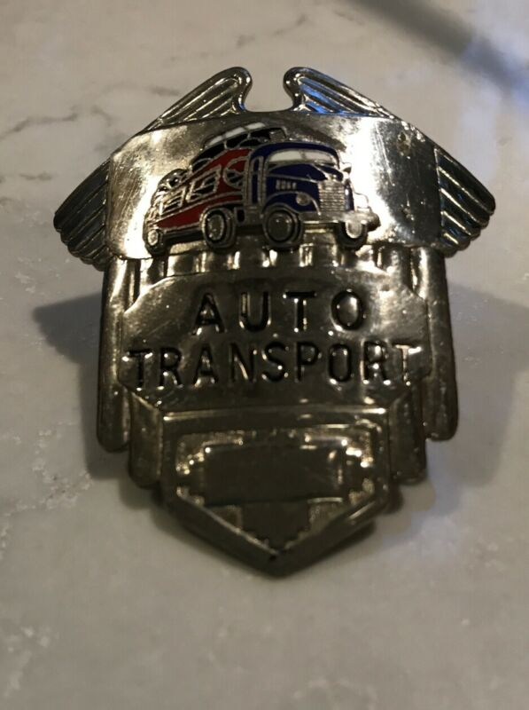 1950's Auto Transport Driver Hat Cap Badge