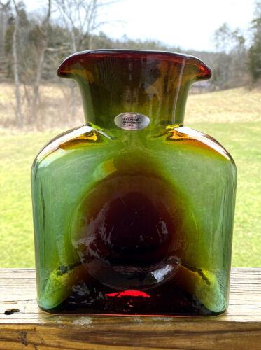 Blenko Glass Water Bottle Summer Storm 384