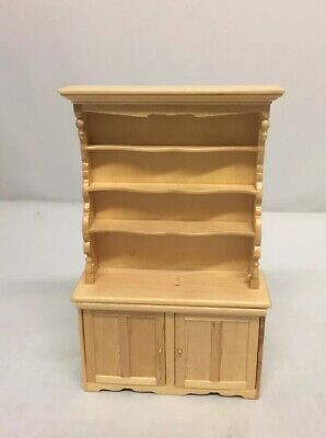Quality Dollhouse Miniature Furniture Solid Wood Kitchen Room Table Cabinet for sale  Fresh Meadows