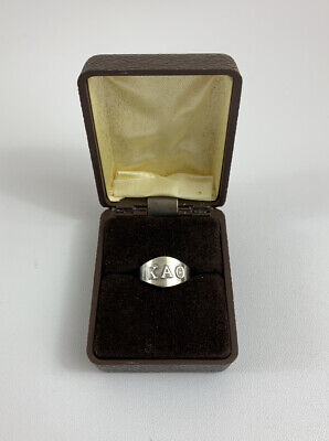 Vintage Kappa Alpha Theta KAO Boxed Sorority Sterling Silver Ring original BOX for sale  Shipping to Ireland