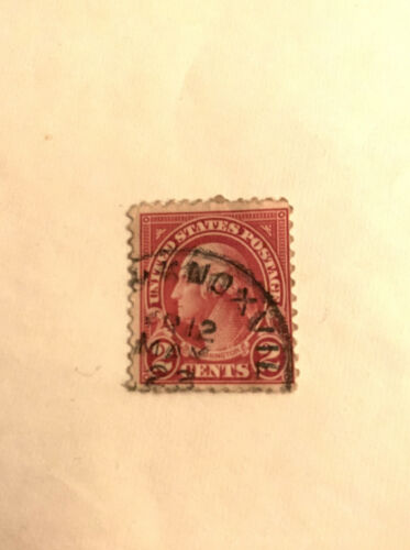Briefmarke USA United States George Washington 2 Cent Rot Red Gestempelt