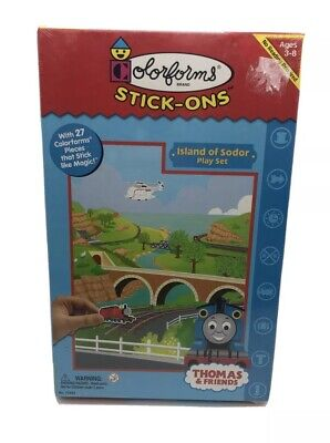 Colorforms Thomas The Train 27 Piece Stick-ons Island Of Sodor Play Set SEALED