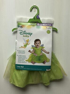 Disney Peter Pan TINKER BELL Halloween Baby Girl Infant Costume 6-12 Months New