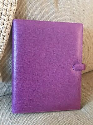 Filofax Finsbury A4 Leather Red Pink Raspberry Organizer Appointment Planner