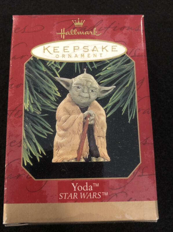 1997 Hallmark Star Wars Yoda Christmas Ornament In Box