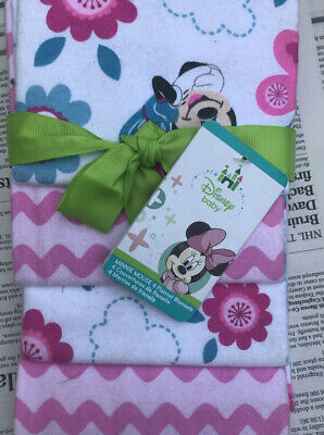 Disney Baby Minnie Mouse Flannel Blankets (set of 4)