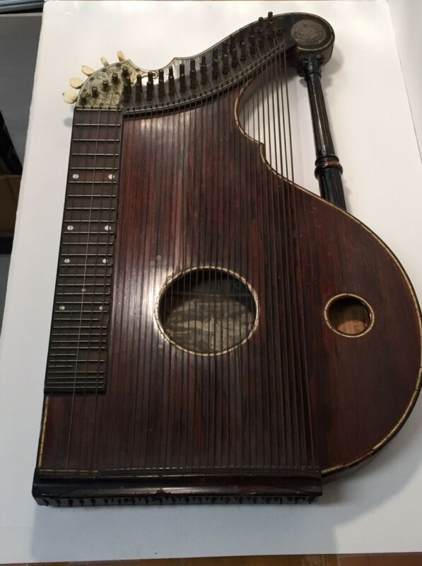 ANTIQUE Lyon Healy George Washburn Zither Harp 1800's 19th Century Very Rare