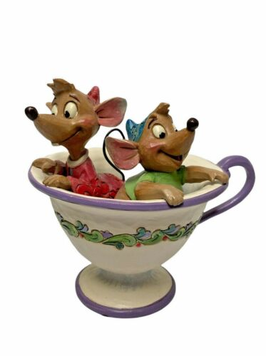 Jim Shore Disney Tradition Jaq and Gus Tea For Two Figurine Cinderella 4016557