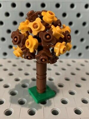 Lego Tree With Yellow Brown Flowers Garden Greenery Plant Shurbs Bushes Custom Bushes With Yellow Flowers