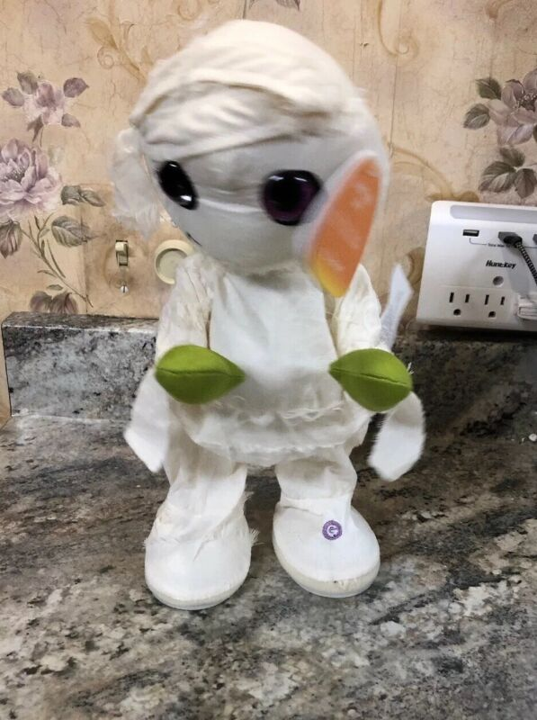 "New Gemmy Halloween Animated Plush Mummy Plays Thriller 13"" Michael Jackson"
