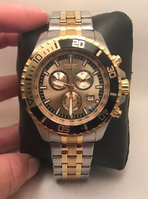 INVICTA PRO DIVER CHRONOGRAPH DAY & DATE STAINLESS STEEL MEN'S WATCH 13650 HS