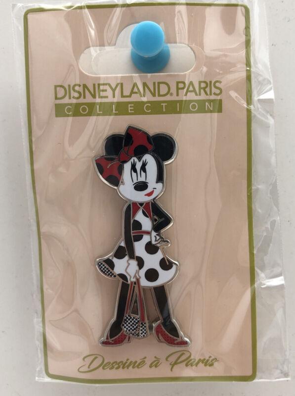 Disneyland Paris Pin Minnie Mouse Fashion Polka Dot Dress & Purse Disney Parks