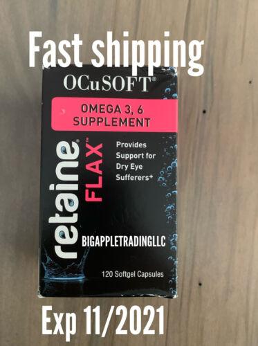 OCuSOFT Retaine FLAX Omega-3, 6 Supplement (120 Softgel Capsules) (EXP. 11/2021)