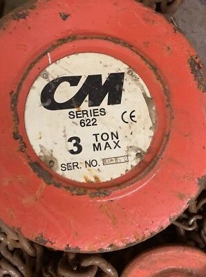 3 Ton Cm Hand Chain Hoist 20 Ft Lift - 622 Series