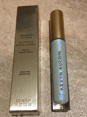 NEW Kevyn Aucoin The Molten Lip Color Top Coat CYBER SKY Blue Liquid Lipstick