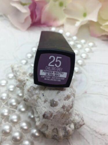 Maybelline COLORSENSATIONAL Powder Matte Lipstick Lippenstift 25 CHILLING GREY💜