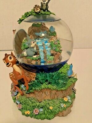 Disney Bambi Plays Little April Showers Large Musical Snow Globe