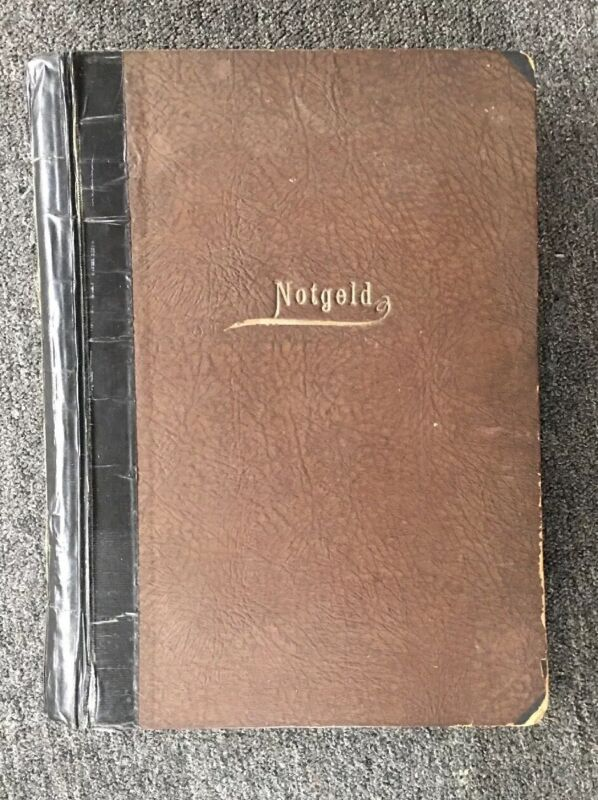 100 Year Old Notgeld Album In Terrible Condition   WWI   Germany   Folio   1919