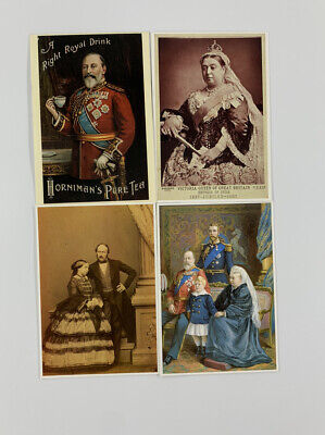 Lot of 4 Postcards British Royal Queen Victoria, Prince Albert, King Edward 7th