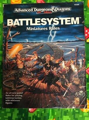 BATTLESYSTEM MINIATURES RULES w/CARD NM! AD&D D&D TSR Dungeons Dragons Mini