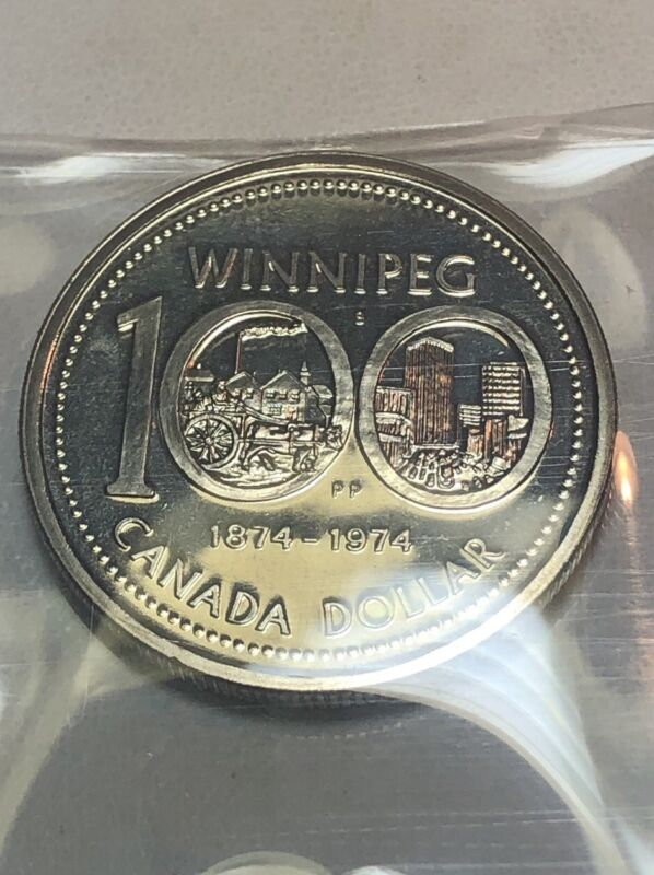 1974 Canada Silver Dollar Winnipeg Centennial