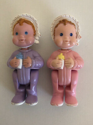 Vintage Fisher Price 1994 Doll House Twin Girl Baby Nursery Figures