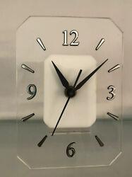 Vintage MOD Lucite Clock Tochigi Japan Modernist Space Age Atomic Era COOL 70s