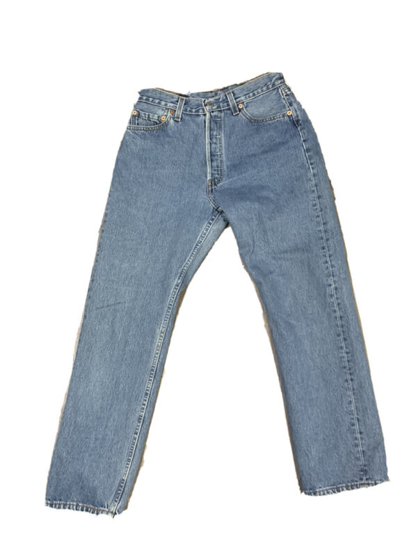 VTG Levis Women's 501 Button Fly Jeans Sise 27 X 28 Made USA